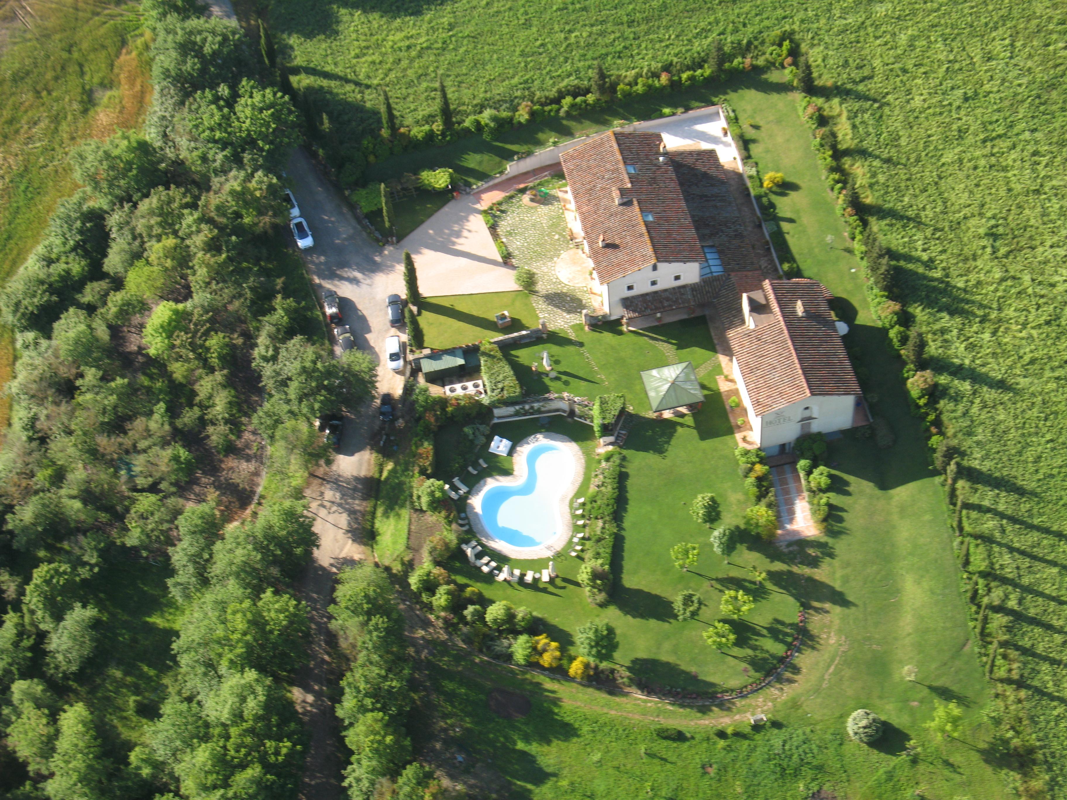 hotel swimming pool in bagno vignoni